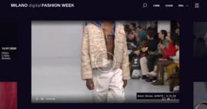 Digital plattform skapad i samarbete med Accenture och Microsoft när den första Milan Digital Fashion Week går av stapeln. 3