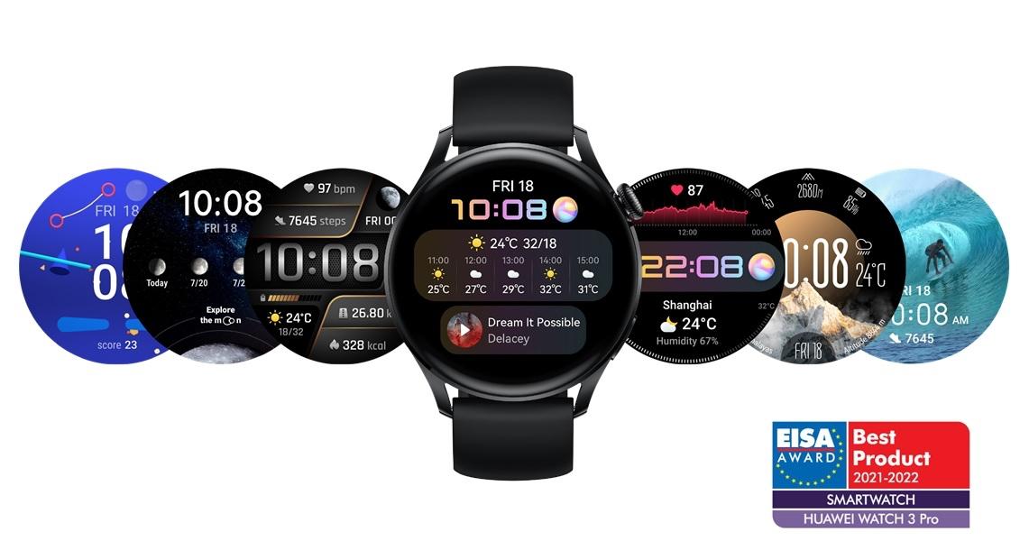 EISA utser Huawei Watch 3 Pro till årets bästa smarta klocka